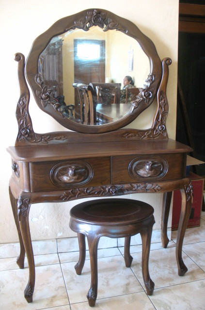 Buy Woodway Solid Wood Dressing Table In Provincial Teak Finish By